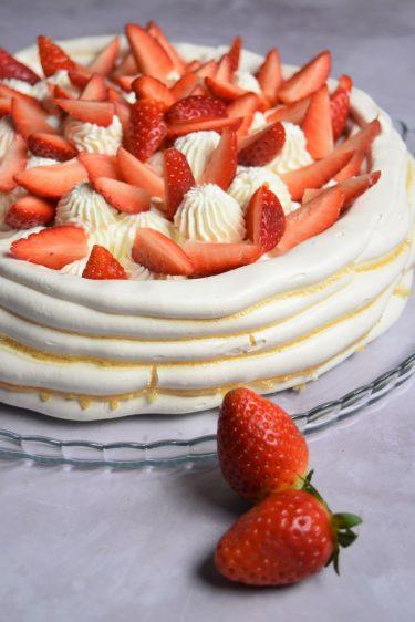 Pavlova aux fraises facile