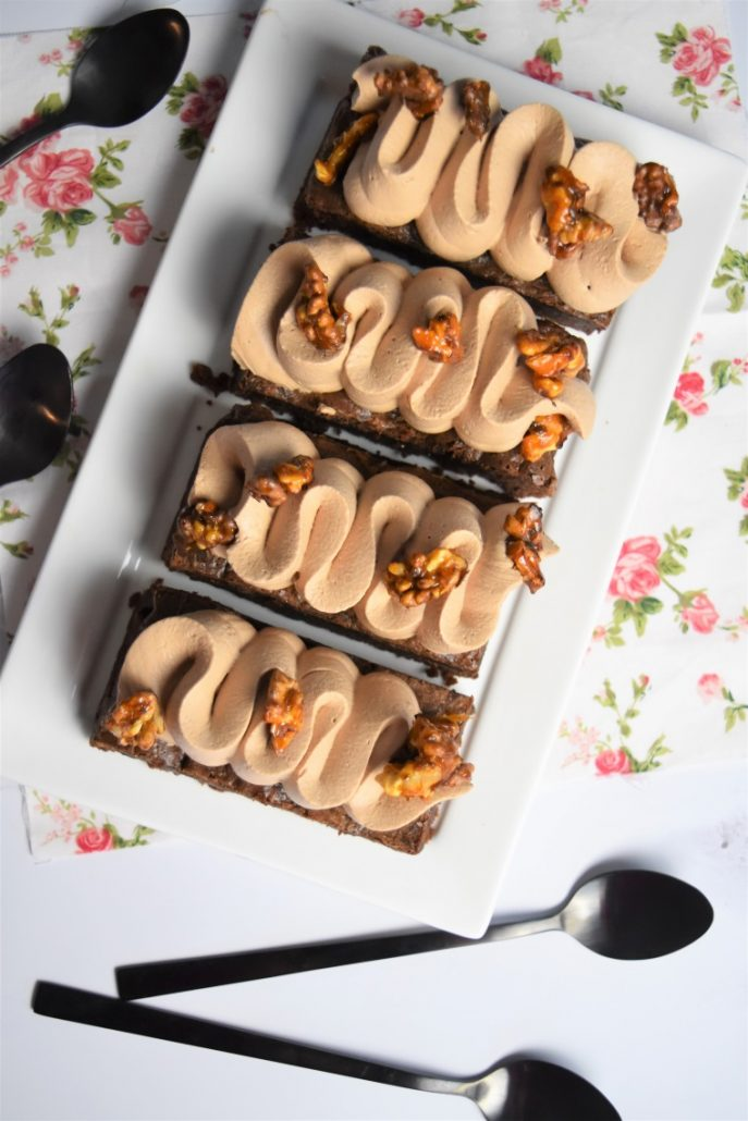 Brownie à la ganche montée au chocolat au lait