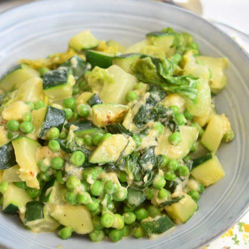 Légumes verts au fromage au Cookeo