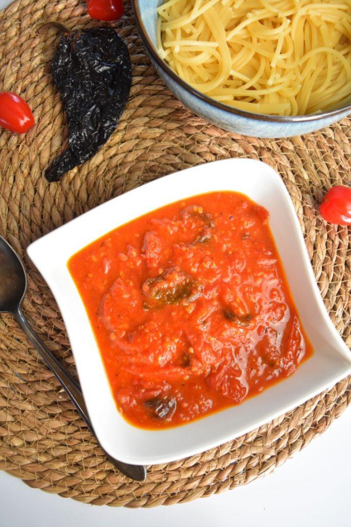 Sauce aux tomates cerise et piment ancho