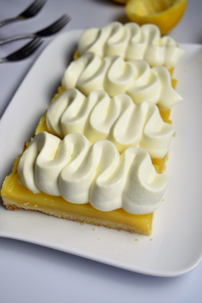 Tartelette rectangle au citron