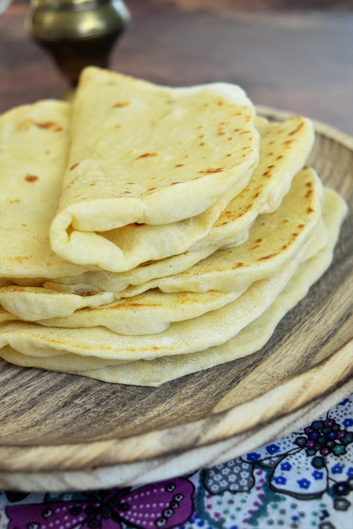 Tortilla moelleuse (à la farine de blé)