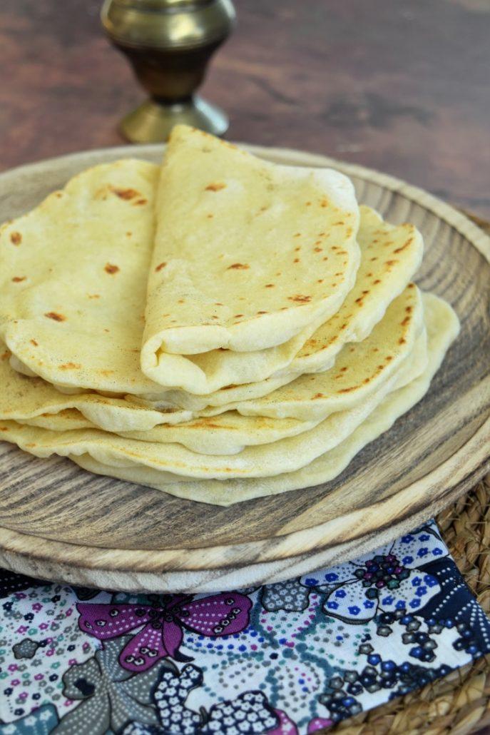 Tortilla moelleuse à la farine de blé