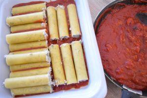 Cannelloni farcis boeuf et ricotta