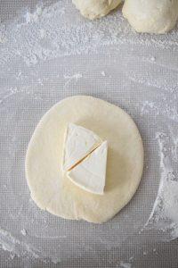 Cheese naan à la vache qui rit