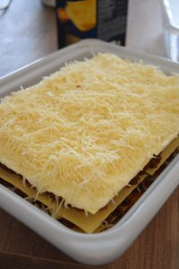 Lasagnes à la ricotta avant cuisson