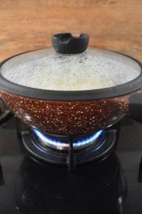 Cuisson des raviolis chinois