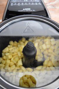 Cuisson des pommes de terre rissolées à l'Actifry