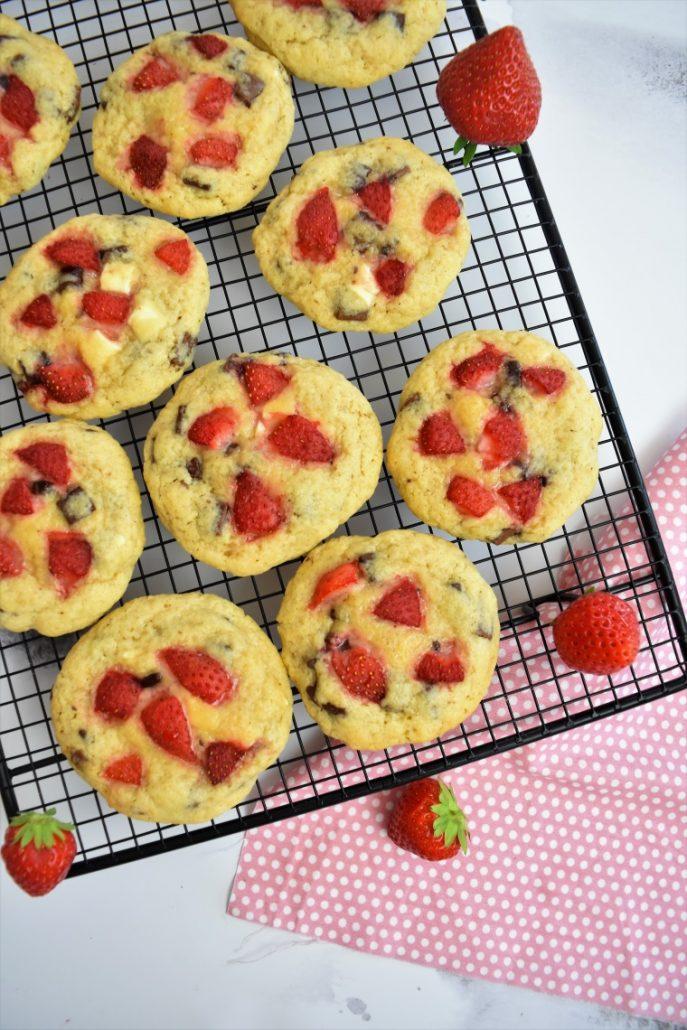 Cookies aux fraises
