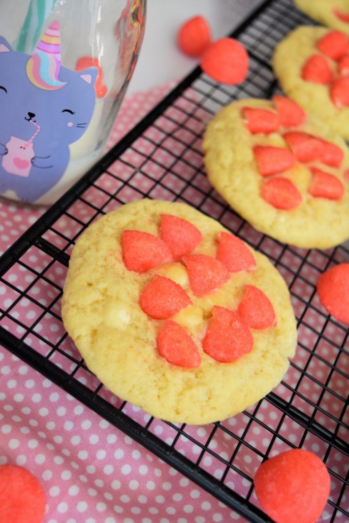 Cookies bonbon Tagada et chocolat blanc