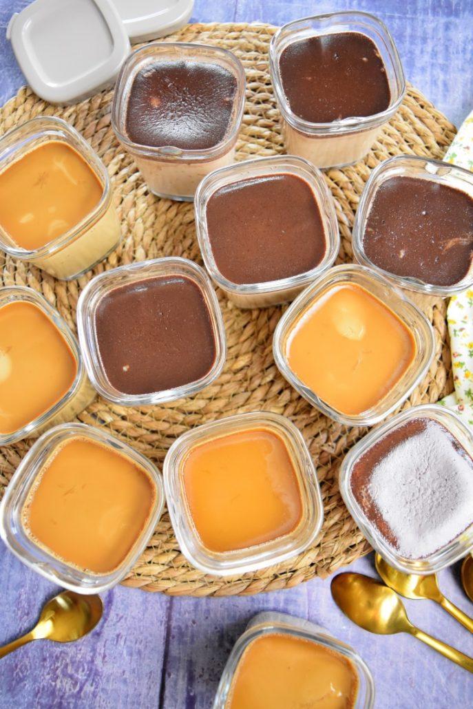 Crèmes dessert café et nutella