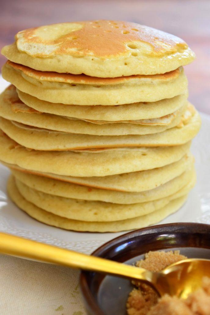 Pancakes aves surplus de levain