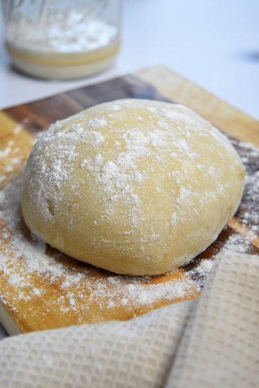 Pâte à tarte salée avec surplus de levain