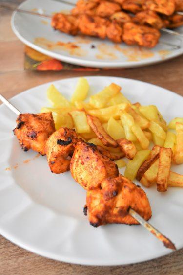 Brochettes de poulet maison