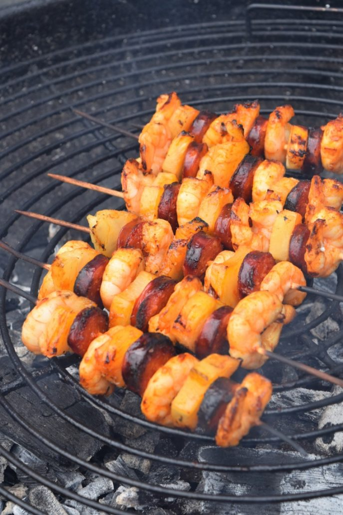 Brochettes maison au barbecue