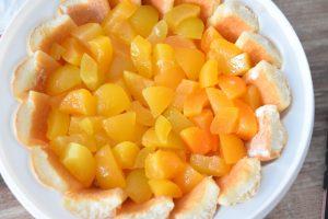 Charlotte aux abricots au sirop