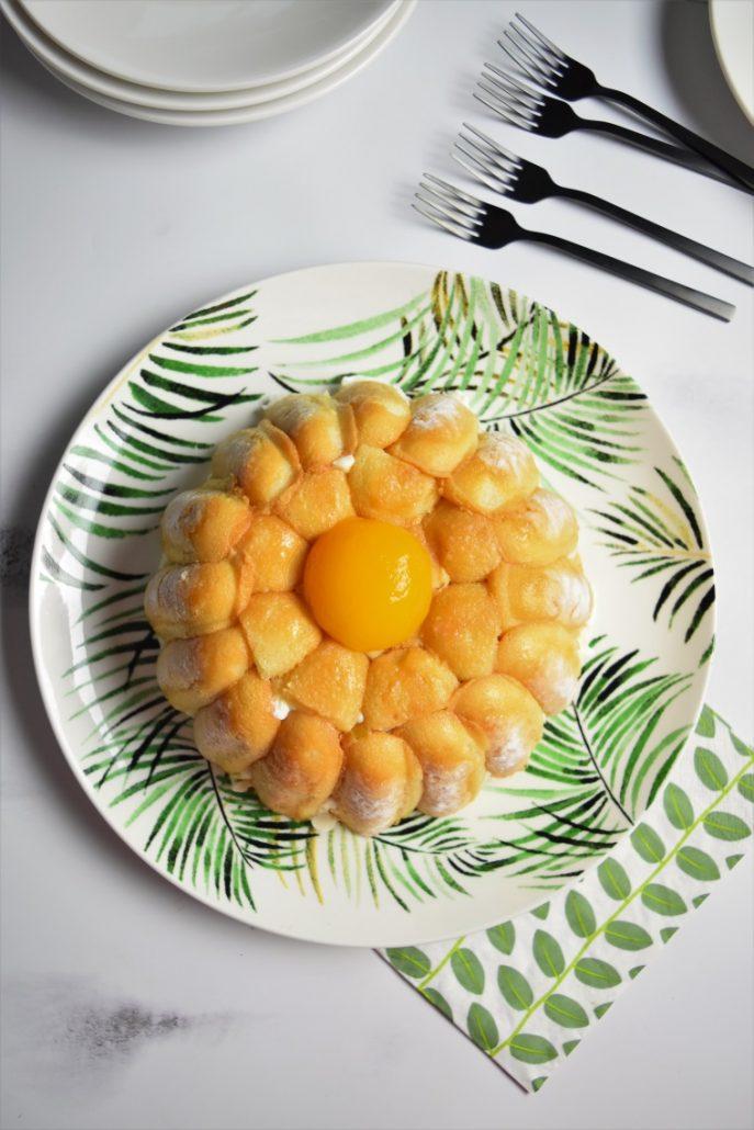 Charlotte à l'abricot et fromage blanc