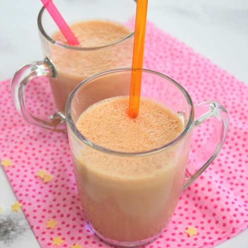 Milk shake glace vanille et nutella