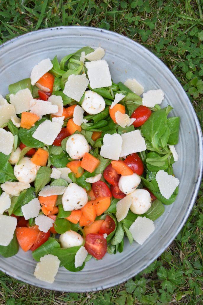 Salade abricot mozzarella