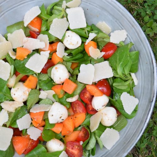 Salade à l'abricot