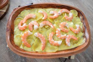 Crème safranée et crevettes