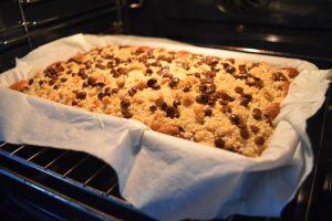 Cuisson du crumb cake