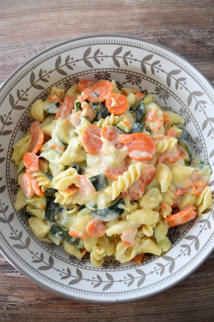 Pâtes aux légumes et fromages au Cookeo