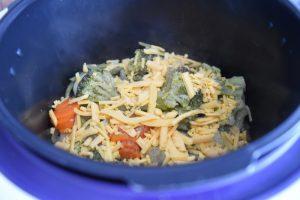 Pommes de terre aux légumes et cheddar