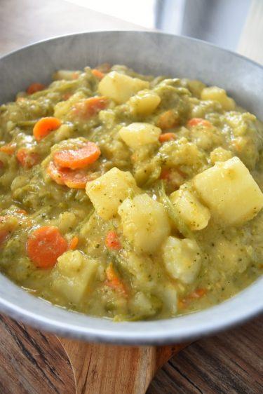 Pommes de terre aux légumes et cheddar au Cookeo