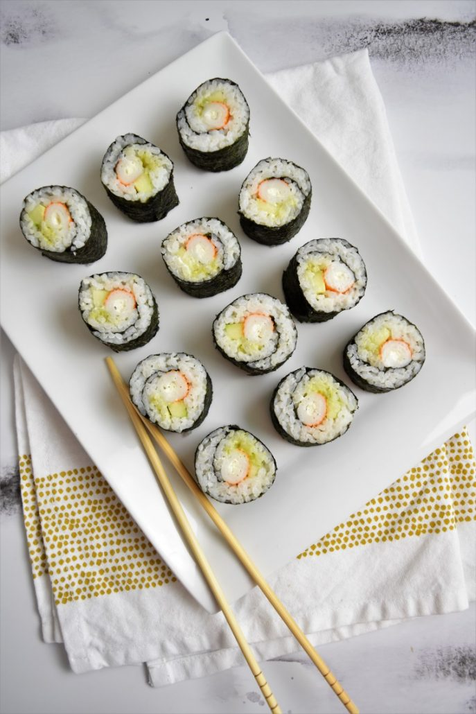 Makis surimi-concombre-wasabi