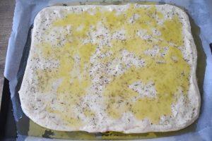 Focaccia à l'émulsion d'huile d'olive