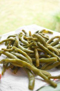 Cuisson des haricots verts frais