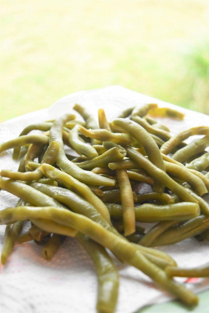Haricots verts du jardin au Cookeo