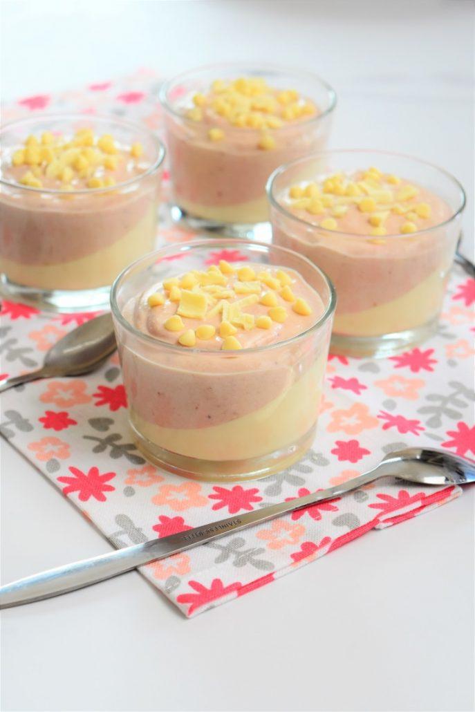 mousse à la fraise et au chocolat blanc