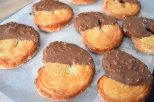 Palmiers avec glaçage chocolat