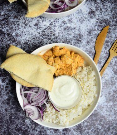 Poulet tandoori en poke bowl