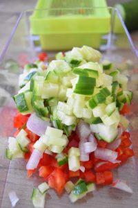 Légumes coupés en petits dés