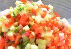 Salade en petits dés