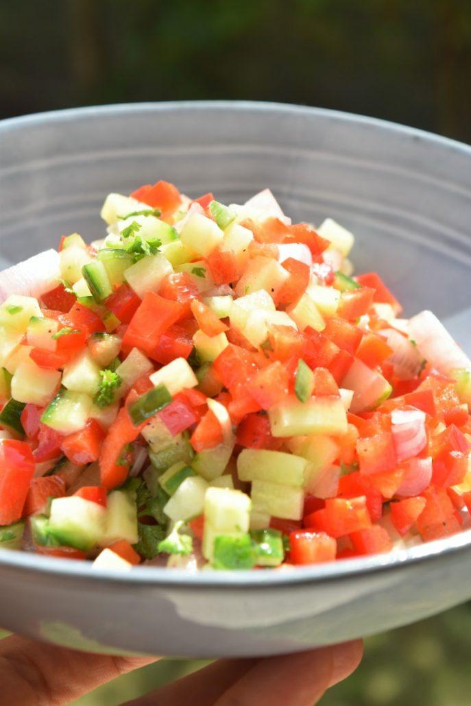 Légumes en petits dés