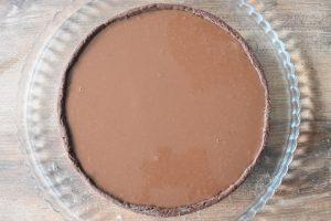Tarte au caramel beurre salé et ganache chocolat au lait