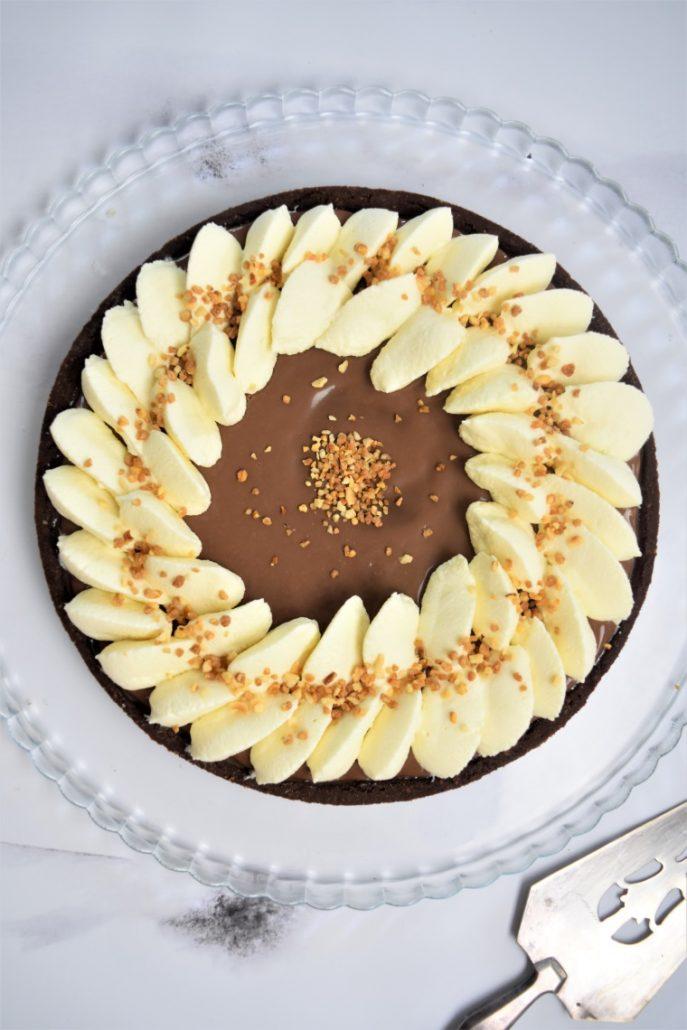 Tarte 3 chocolats et caramel