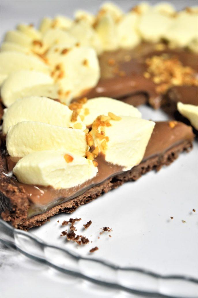 Tarte aux 3 chocolats et caramel beurre salé