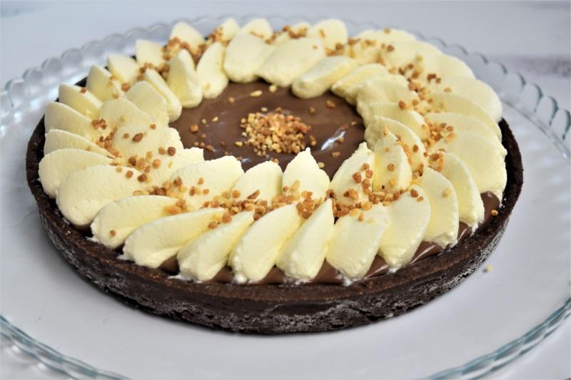 Tarte chocolat au lait et caramel beurre salé