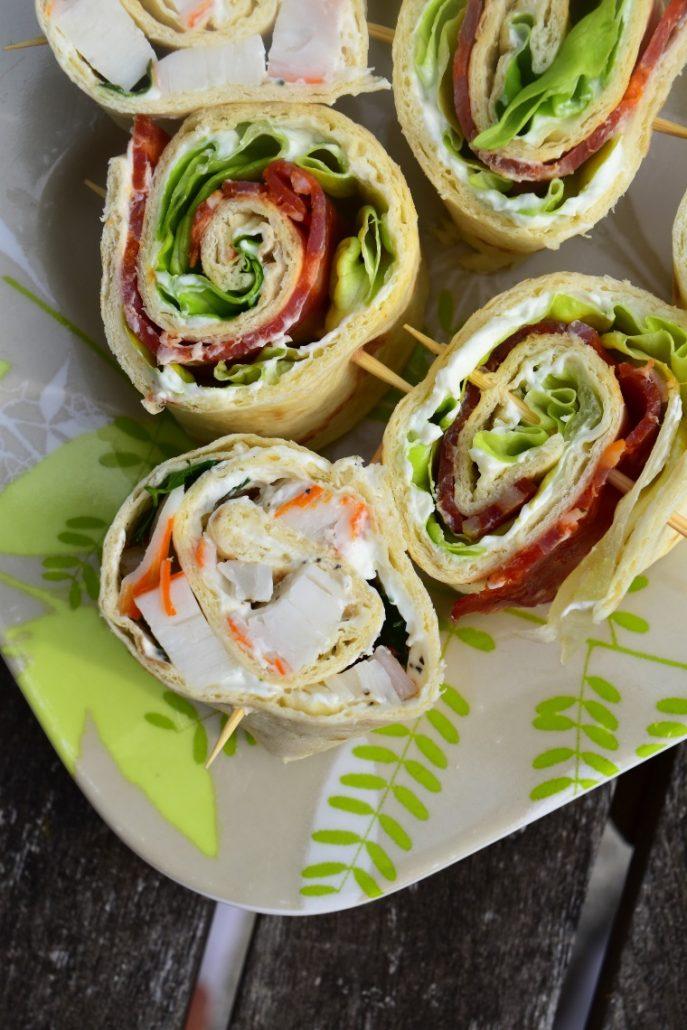 Wrap au fromage, herbes et surimi
