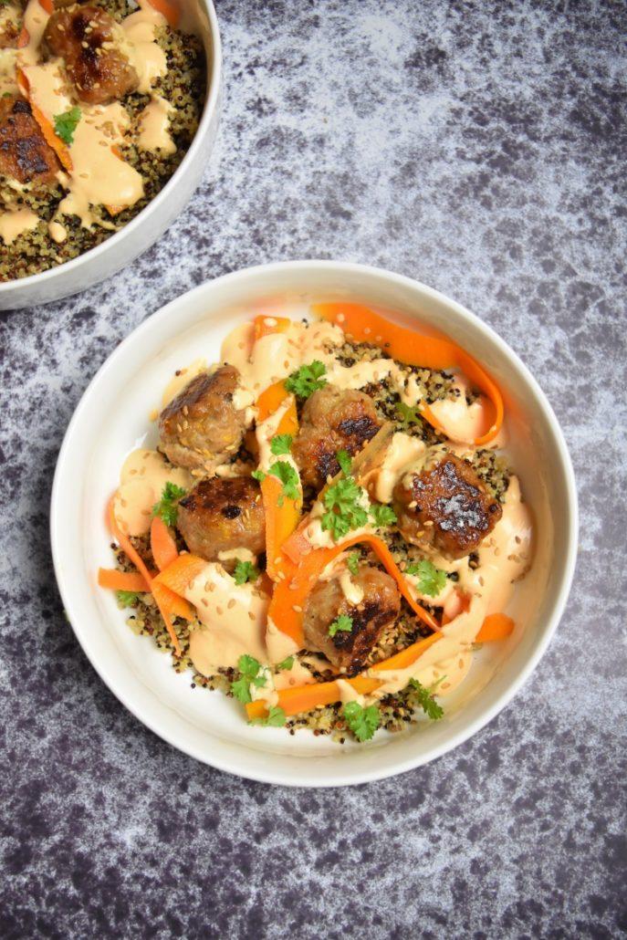 Boulettes et quinoa de Cyril Lignac