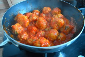 Boulettes sauce tomate basilic