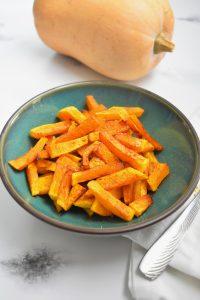 Frites de courge en friteuse