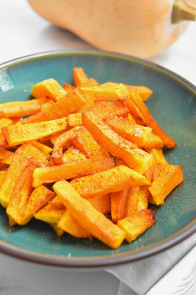 Frites de butternut en friteuse