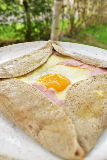 Galette oeuf jambon fromage