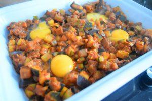 Légumes épicés aux oeufs